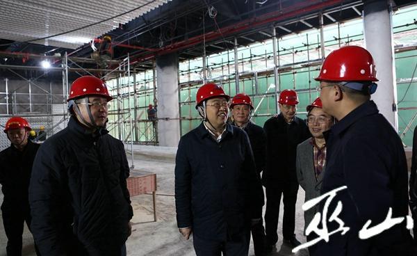 縣委書記李春奎督導機場建設。盧先慶攝.JPG