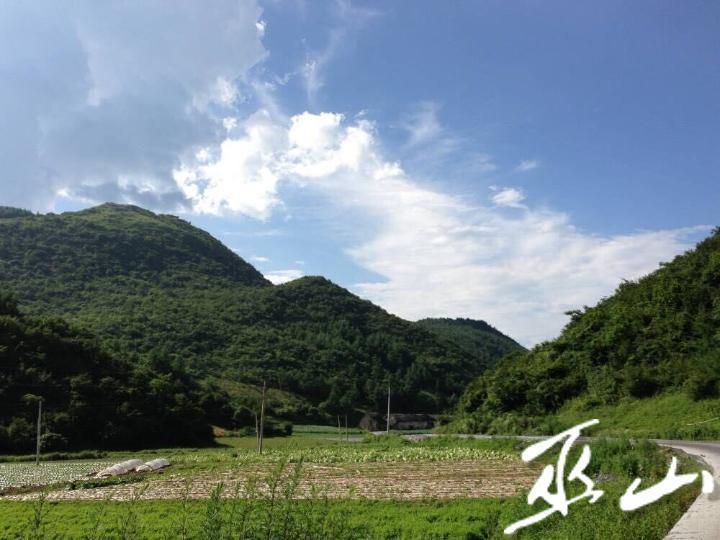 蓝天白云,植被丰茂的红椿。.jpg