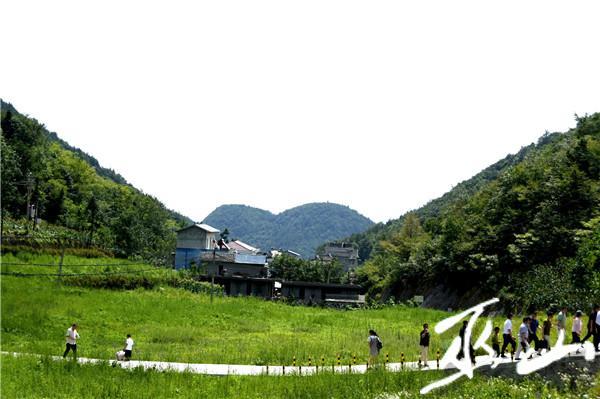 游客漫步在大垭村田间小道。.JPG